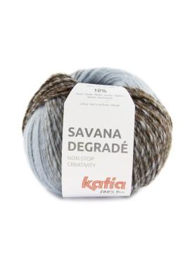 Savana Degradé Kleur 105 - Blauw-Hemelsblauw-Bruin