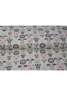 13401-22 Printed Jersey melange