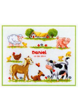 2002 / 70.309 Geboortetegel Daniel Telpakket 27 x 23cm