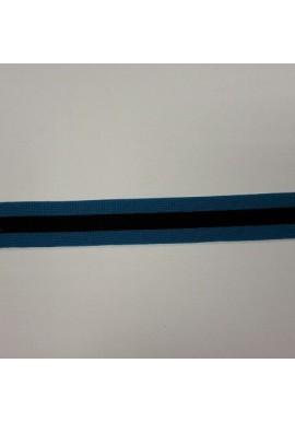 Streepband blauw/zwart 2,5 cm breed