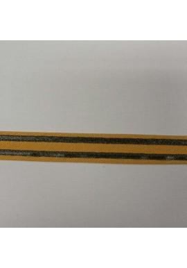 Streepband maisgeel/groen 2 cm breed