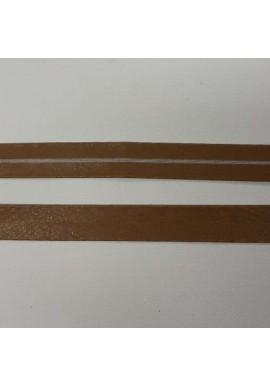 Leer baisband cognaclichte kleur 1,5 cm breed