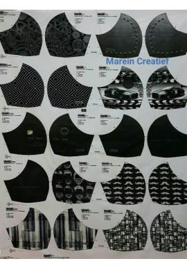 Mondmask 5 verschillende prints voor mondkapjes