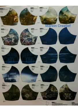 Mondmask 4 verschillende prints voor mondkapjes