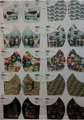Mondmask Kerst1 verschillende prints voor mondkapjes