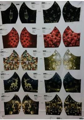 Mondmask Kerst2 verschillende prints voor mondkapjes