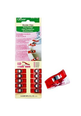Clover Wonder Clips Red - 10 pcs