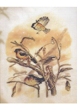 Orchidea Cross stitch kit 8171 tree birds Aidastof 26x36cm