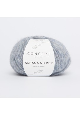 Alpaca Silver Kleurnummer 253 - Pastelblauw-Zilver