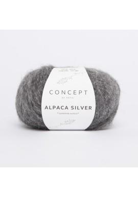 Alpaca Silver Kleurnummer 256 - Donker grijs-Zilver