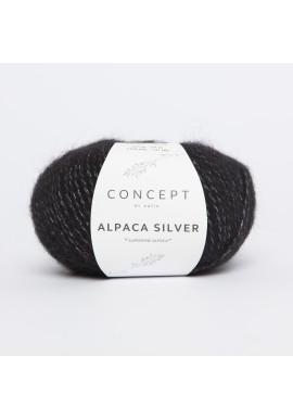 Alpaca Silver Kleurnummer 263 - Zilver-Zwart