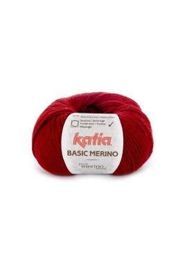 Basic Merino  Kleurnummer 22 - Wijnrood