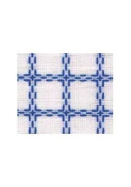 Beiersbont 5400.12 wit / blauw 160 cm
