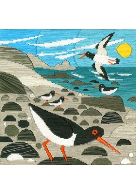 Borduurpakket Matt Johnson - Oyster Catchers - Bothy Threads