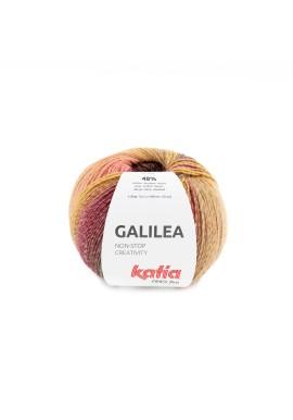 Galilea Kleurnummer 300 - Wijnrood-Mosterdgeel-Parelmoer-lichtviolet