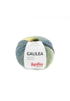 Galilea Kleurnummer 306 - Bruin-Donker blauw-Citroengeel