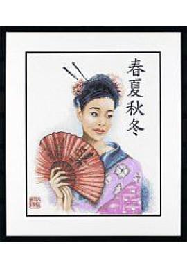 Lanarte 34905 Chinese vrouw Telstof 38x47cm