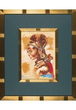 Lanarte 35004 Afrikaanse vrouw Telstof 13x18cm