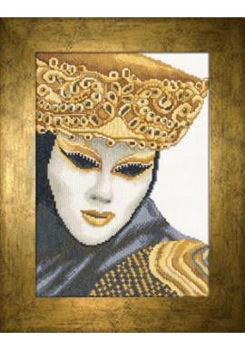 Lanarte 35054A Het Masker Aida stof 21x30cm