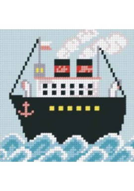 Orchidea needlepoint kit 5021 Ship Stramien 13,5x13,5cm