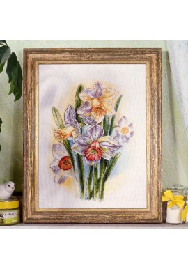 Orchidea Cross stitch kit 8101 Narcissi Bunch Aidastof 28x39cm