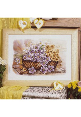 Orchidea Cross stitch kit 8204 Basket of Yellow Aidastof 38x27cm