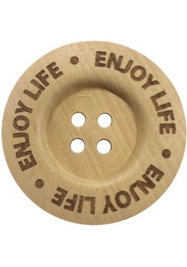 Knoop enjoy life 40mm. Zakje a 2 stuks