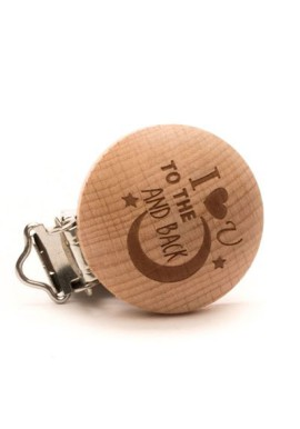Speenclip I love you to the moon and back  (2 stuks)