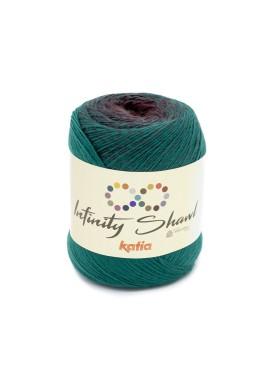 Infinity Shawl Kleurnummer 316 - Groen-Aubergine-Bruin