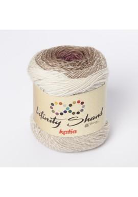 Infinity Shawl Kleurnummer 301 - Ecru-Reebruin-Fuchsia
