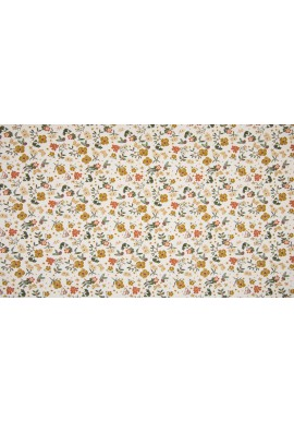 KC0330-051 Cotton Poplin Print Small Flowers Ecru