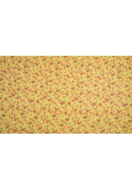 KC0385-085 Cotton Poplin Print Flower Yellow