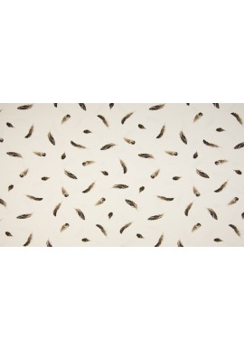 KC1579  Jersey Feathers taupe