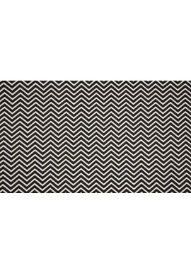 KC2801-021 Black & White 100 % Cotton Print Zig Zag
