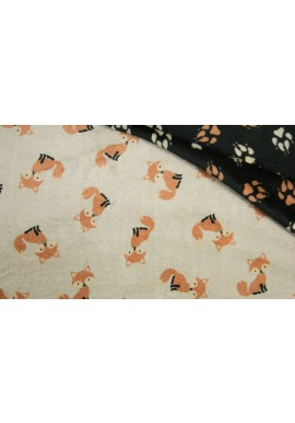 KC4018-352 PE Cuddle Fleece FOX / DOG FEET SAND