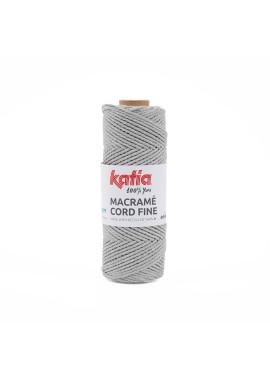 Macramé Cord Fine 220 gram Kleur 201 - Medium grijs