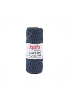 Macramé Cord Fine 220 gram Kleur 203 - Jeans