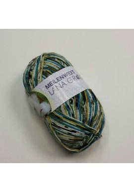 Katoenen sokkengaren Meilenweit Solo Cotone 100 gram Kleur 3408