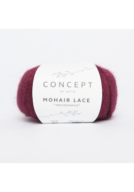 Mohair Lace Kleurnummer 311 - Donker fuchsia