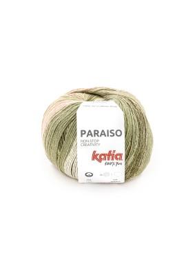Paraiso Kleurnummer 103 - Waterblauw-Kaki-Citroengeel-Bleekrood