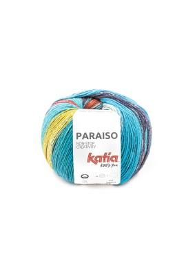 Paraiso Kleurnummer 107 - Groen-Blauw-Rood-Geel-Donker blauw