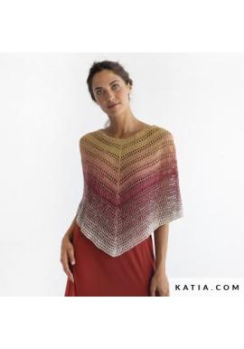 Silk Degradé gehaakte poncho