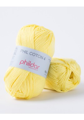 Phil Coton 4 CITRON Kleurnummer 0063