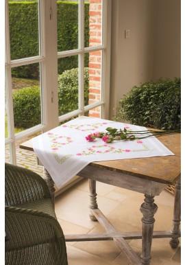 PN-0013210 Tafelkleed kit Slinger van rozen 80 x 80 cm