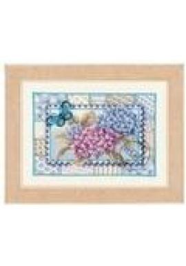 PN-0145007 Postzegel met Hortensia Telpakket 21 x 15 cm