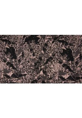 Q22226-113 Jacquard Jersey Print Panther Nude