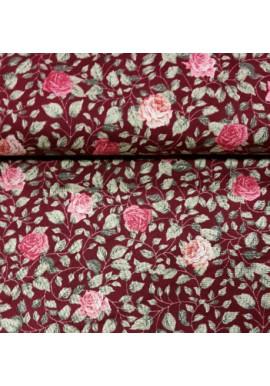 Quiltstof met rozen 4