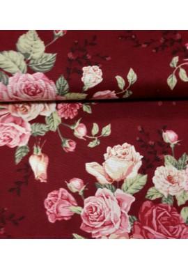 Quiltstof met rozen 5