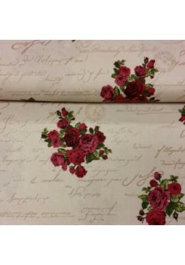 Quiltstof met rozen 7