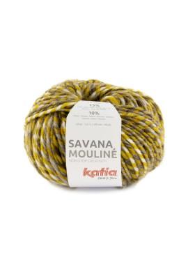 Savana Mouliné Kleur 203 - Oker-Bruin-Grijs